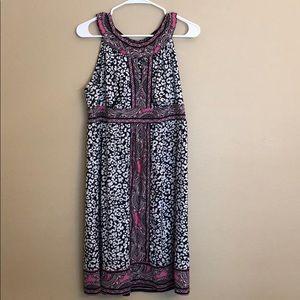 INC Dress Keyhole Front Pink Black Size Large